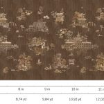 Luxury Fabric Wallcoverings - Dark Tea